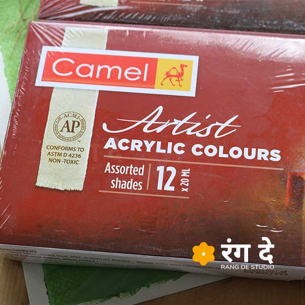 Buy Camlin Artists Acrylic Colours20ml Set Online from Reang De Studio