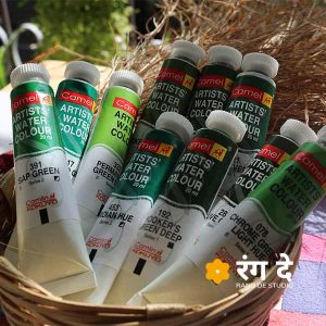Green Watercolour Shades - Camlin Artist Watercolours 20ml