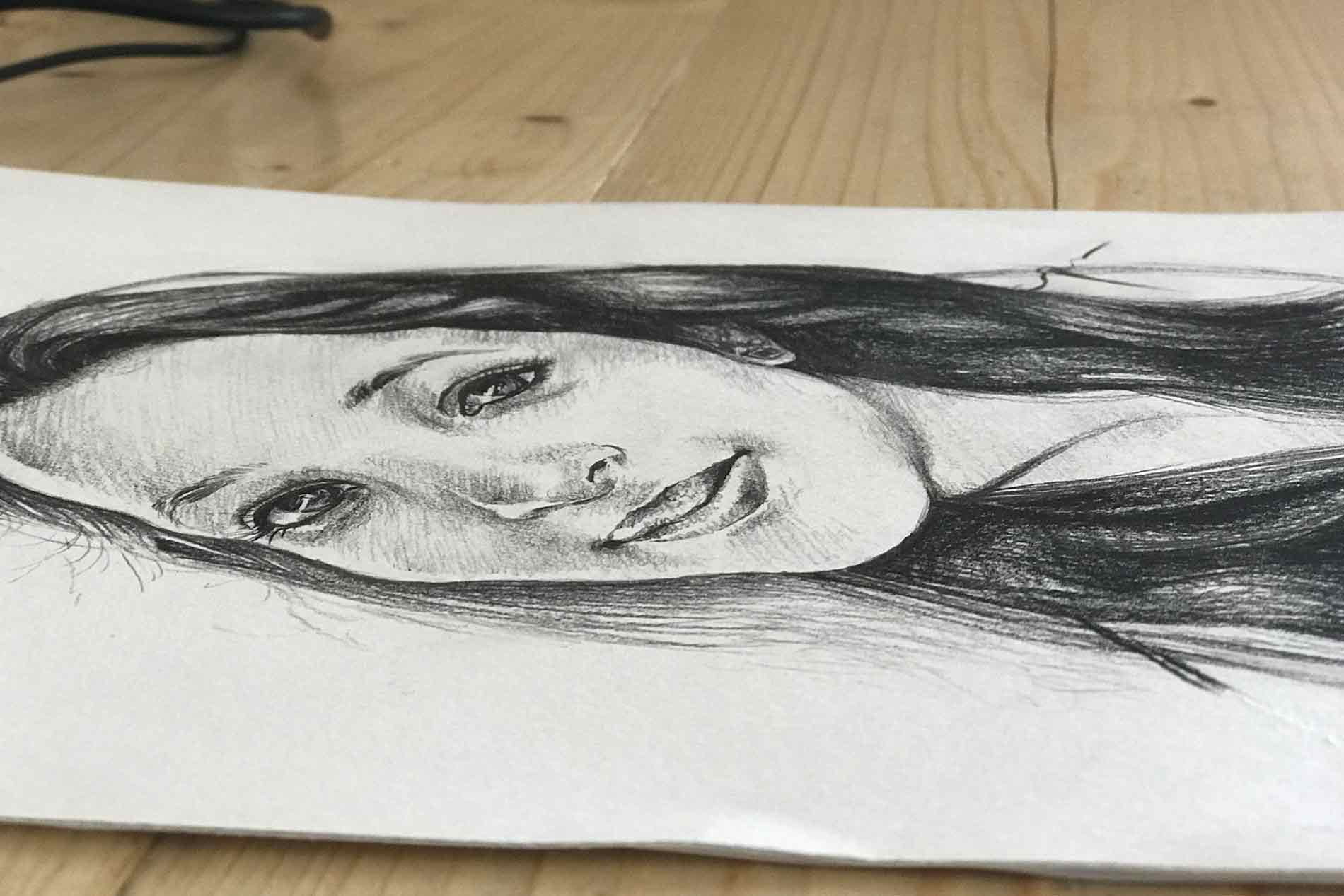 Love you too, gift a pencil sketching to your loved ones
