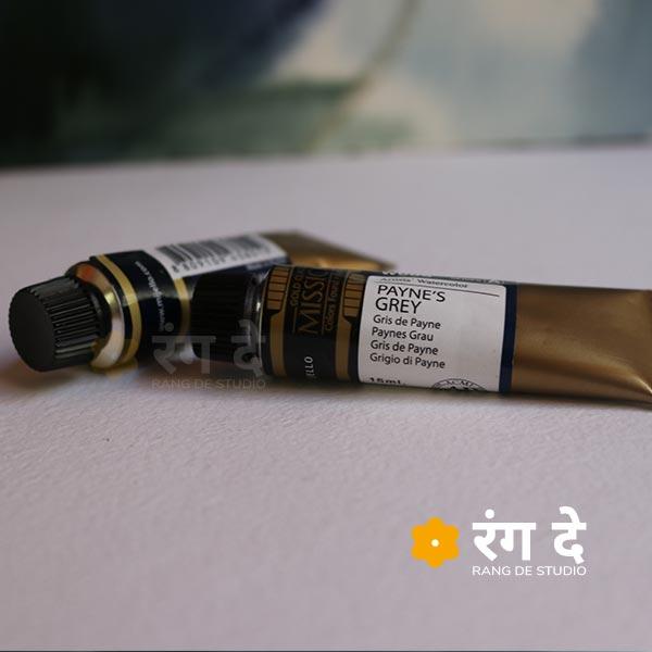 Paynes Grey - Mijello Mission Gold Class Professional Grade Watercolour - 15 ml