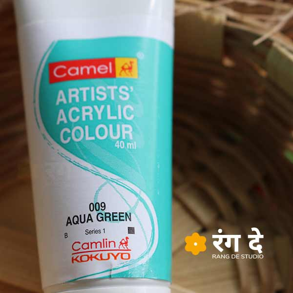 Buy Aqua Green Deep Green Artists Acrylic Colours Online from Rang De Studio