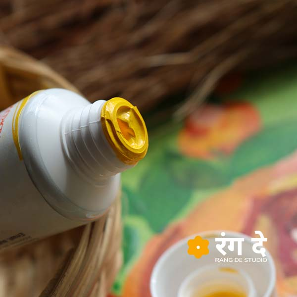 Buy Cadmium Yellow Artists Acrylic Colours Camlin Online from Rang De Studio