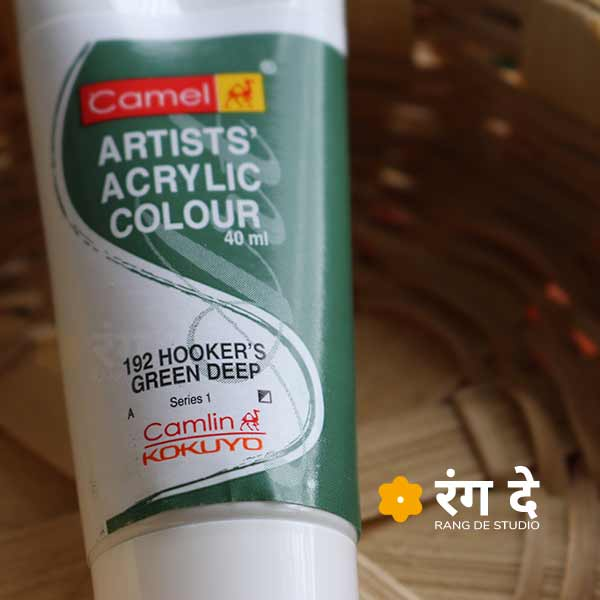 Buy Camlin Hookers Green Deep Artists Acrylic Colours Online from Rang De Studio