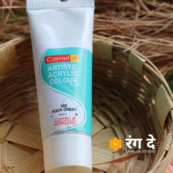 Buy Camlin Aqua Green Deep Green Artists Acrylic Colours Online from Rang De Studio
