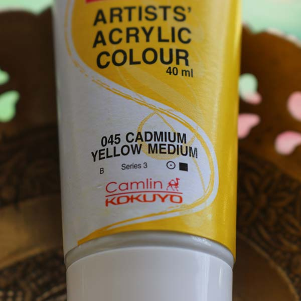 Buy Cadmium Yellow Artists Acrylic Colours Online from Rang De Studio