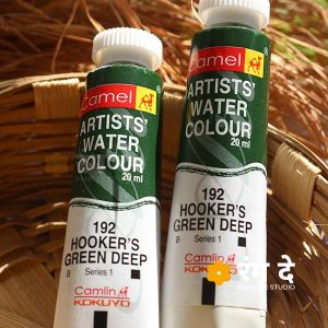 Buy Camlin Hookers Green Deep artist watercolour shade online from Rang De Studio