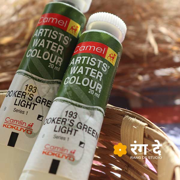 Buy Camlin Hookers Green light artist watercolour shade online from Rang De Studio