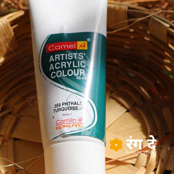 Buy Phthalo Turquoise Artists Acrylic Colours Online from Rang De Studio