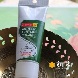Buy Camlin Sap Green Artists Acrylic Colours Online from Rang De Studio