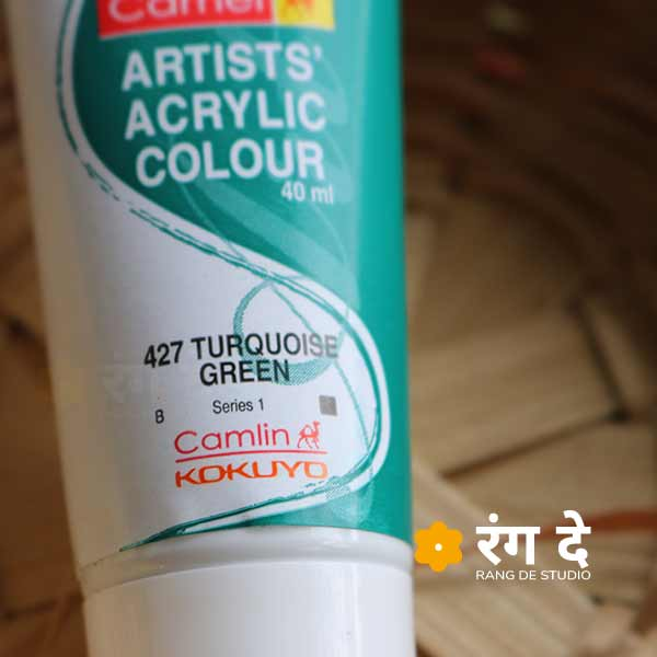 Buy Camlin Turquoise Green Artists Acrylic Colours Online from Rang De Studio
