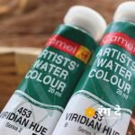 Buy Camlin Virdian Hue artist watercolour shade online from Rang De Studio