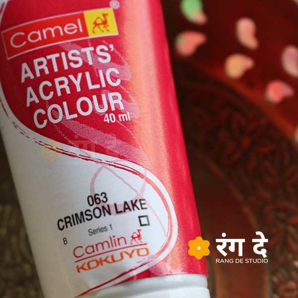 Buy Camlin Artist's Acrylic Colour Crimson Lake Online from Rang De Studio