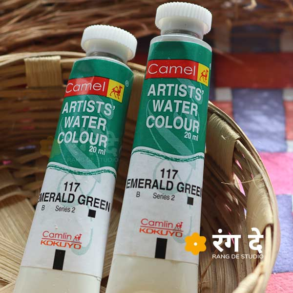 Buy Camlin Emerald Green artist watercolour shade online from Rang De Studio
