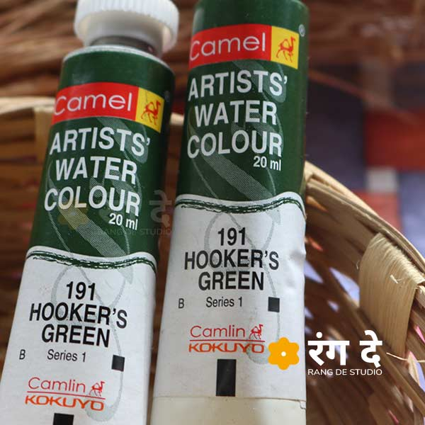 Buy Hookers Green artist watercolour shade online from Rang De Studio