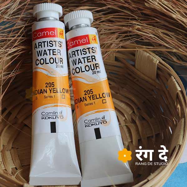 Buy Indian Yellow Artist Watercolor online from Rangde studio