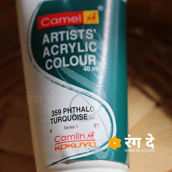 Buy Camlin Phthalo Turquoise Artists Acrylic Colours Online from Rang De Studio