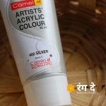 Buy Camlin Silver Artists Acrylic Colours Online from Rang De Studio