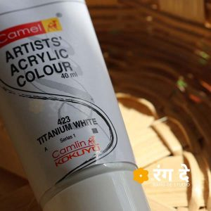 Buy Camlin Titanium White Artists Acrylic Colours Online from Rang De Studio