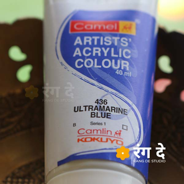 Buy Ultramarine Blue Artists Acrylic Colours Camlin Online from Rang De Studio