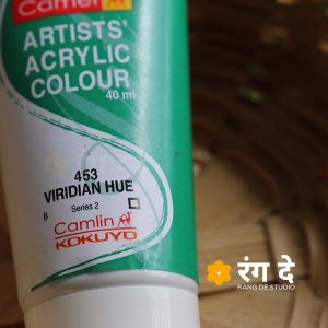 Buy Camlin Viridian Hue Artists Acrylic Colours Online from Rang De Studio