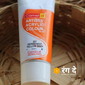 Buy Permanent Yellow Deep Artists Acrylic Colours Online from Rang De Studio