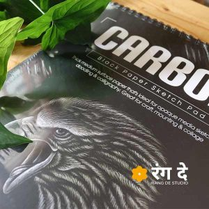 Carbon Black Paper Sketch Pad by Scholar. Thick medium surface paper that's ideal for opaque media sketches, buy online from Rang De Studio