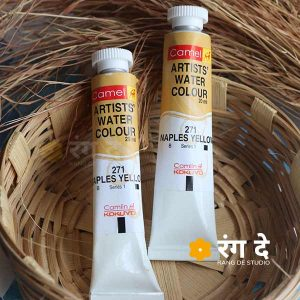 Buy Naples Yellow Artist Watercolor - Camlin - Online_Rang De Studio