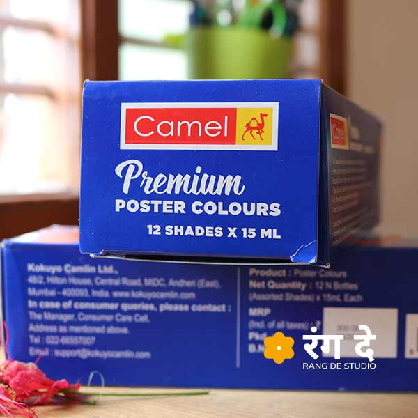 Buy best Camlin Premium Poster Colours online from Rang De Studio
