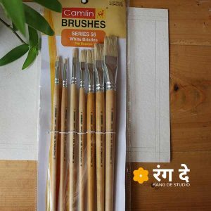 Buy White Bristle brush set - Flat - 7 Nos, Camlin online