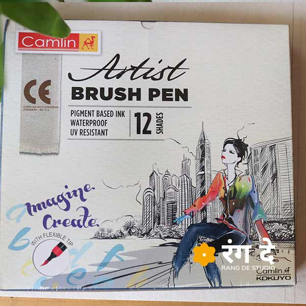 Camlin Artist Brush Pens with 12 shades