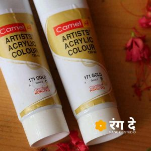 Buy camlin acrylic gold colours onlin | Rang De studio