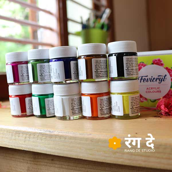 Buy fevicryl Acrylic Colours Set Online from Rang De Studio