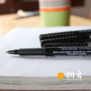 Buy original Faber Castell Multimark Fine 0.8mm pens online from Rang De Studio, Free Delivery over INR 1500