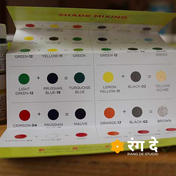 Shop fevicryl Acrylic Colours Set Online from Rang De Studio, Shade Card
