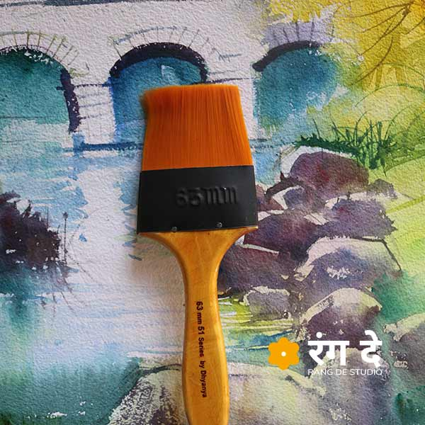 Buy wash brush for watercolour painting
