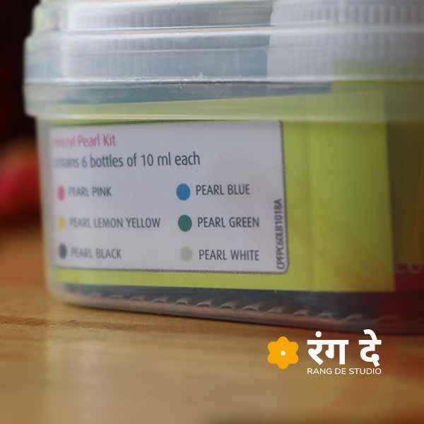 Get fevicryl acrylic pearl colours set online from Rang De Studio