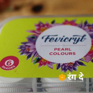 Buy fevicryl acrylic pearl colours set online from Rang De Studio