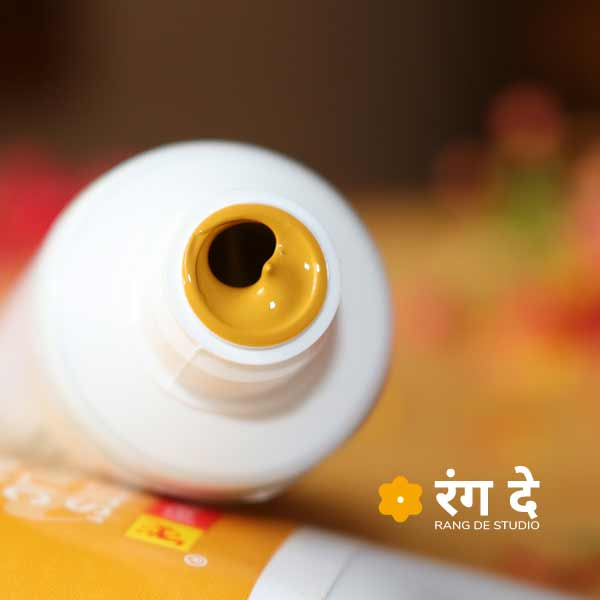 Shop yellow ochre acrylic colours online | Rang De Studio