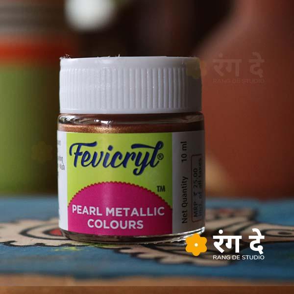 Buy Fevicryl Pearl Metallic Colours Online from Rang De Studio. Fevicryl Acrylic Colours, Pearl Metallic Colours - 10 ml & 100 ml Single Bottles!
