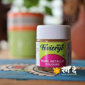 Buy Fevicryl Pearl Metallic Colours Online from Rang De Studio. Fevicryl Acrylic Colours, Pearl Metallic Colours - 10 ml & 100 ml Single Bottles!