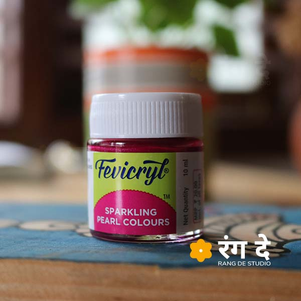 Buy Fevicryl Sparkling Pearl Colours Online from Rang De Studio. Sparkling Pearl Colours are Acrylic Based available in Single Bottles!
