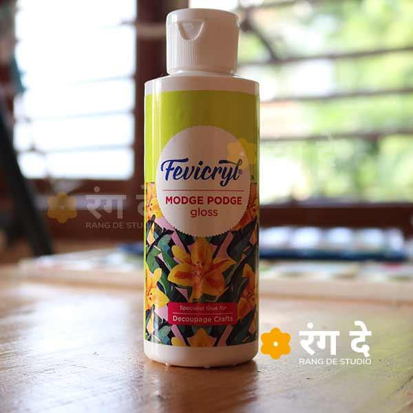 Buy Fevicryl Modge Podge Decoupage Glue Online from Rang De studio