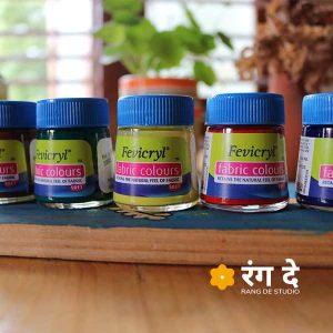 Buy Fevicryil Fabric Colours-Single Bottles- Online From Rang De studio