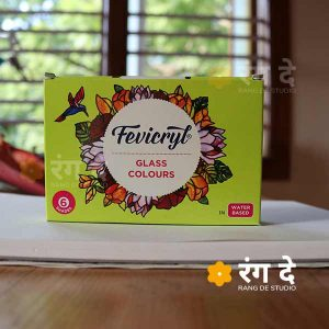 Buy Fevicryl Glass Colours - 6 colour set online from Rang De Studio