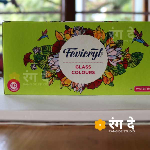 Buy Fevicryl Glass Colours 10shades online from Rang De Studio